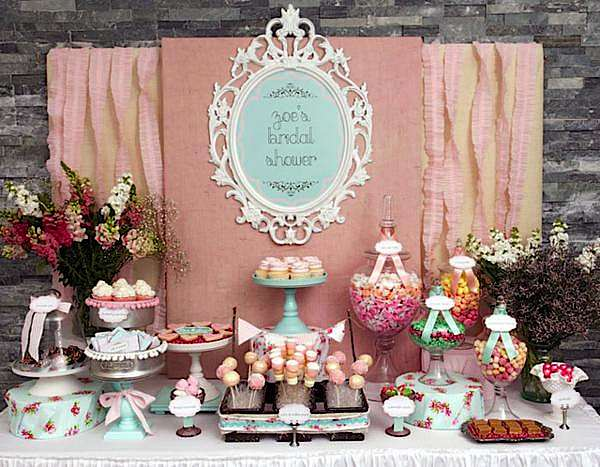 Karas Party Ideas Shabby Chic Girl Spring Floral Bridal Shower