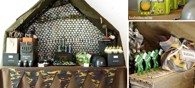 Army Camouflage Themed Birthday Party Ideas Planning via Kara's Party Ideas - www.KarasPartyIdeas.com