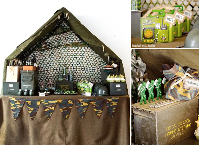Kara 39 s party ideas army camouflage themed birthday party for Army theme party decoration ideas