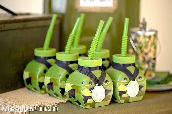 Karas Party Ideas Army Camouflage Themed Birthday Party Karas