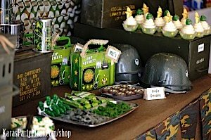 Army Camouflage Themed Birthday Party Planning Ideas via Kara's Party Ideas - www.KarasPartyIdeas.com-13