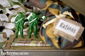 Army Camouflage Themed Birthday Party Planning Ideas via Kara's Party Ideas - www.KarasPartyIdeas.com-17