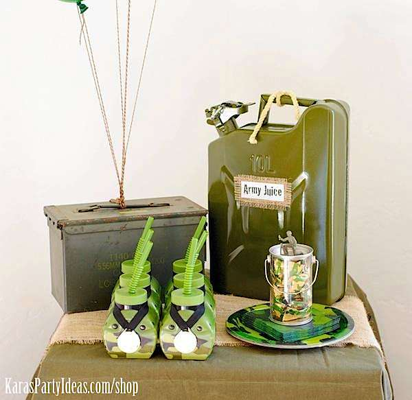 Army Camouflage Themed Birthday Party Planning Ideas via Kara's Party Ideas - www.KarasPartyIdeas.com-20