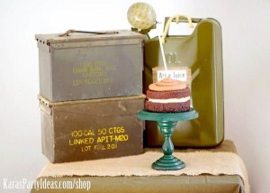 Army Camouflage Themed Birthday Party Planning Ideas via Kara's Party Ideas - www.KarasPartyIdeas.com-25