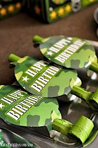 Army Camouflage Themed Birthday Party Planning Ideas via Kara's Party Ideas - www.KarasPartyIdeas.com-30