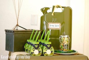 Army Camouflage Themed Birthday Party Planning Ideas via Kara's Party Ideas - www.KarasPartyIdeas.com-4