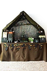 Army Camouflage Themed Birthday Party Planning Ideas via Kara's Party Ideas - www.KarasPartyIdeas.com-42