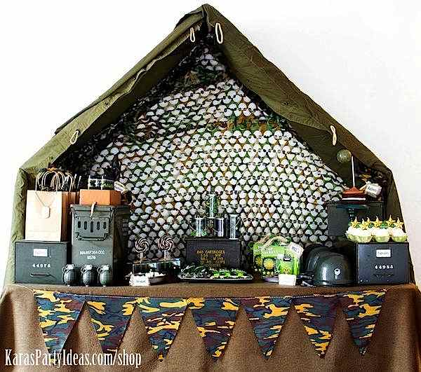 Army theme party decoration ideas for Army party decoration ideas