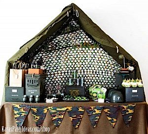 Army Camouflage Themed Birthday Party Planning Ideas via Kara's Party Ideas - www.KarasPartyIdeas.com-45