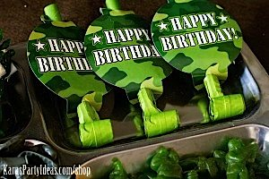 Army Camouflage Themed Birthday Party Planning Ideas via Kara's Party Ideas - www.KarasPartyIdeas.com-48