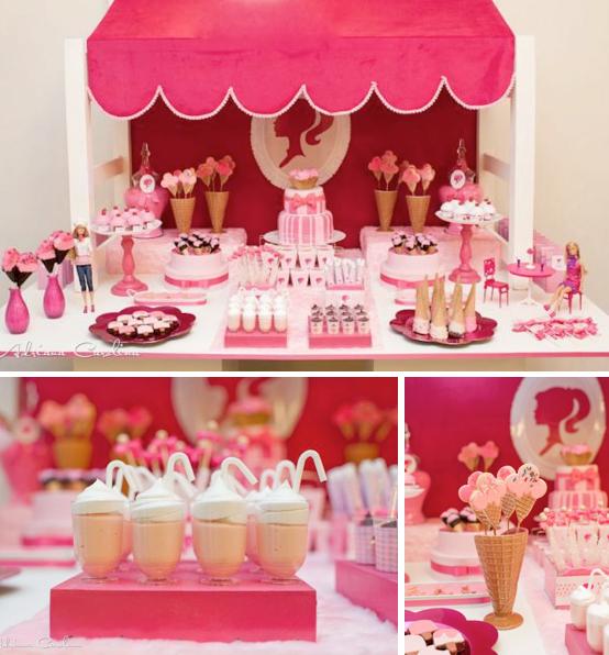 Kara's Party Ideas Barbie Doll Ice Cream Shop Pink Girl