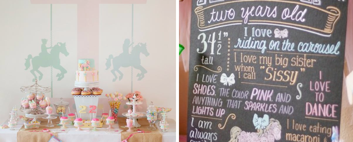 Carousel themed birthday carnival party via Kara's Party Ideas - www.KarasPartyIdeas.com