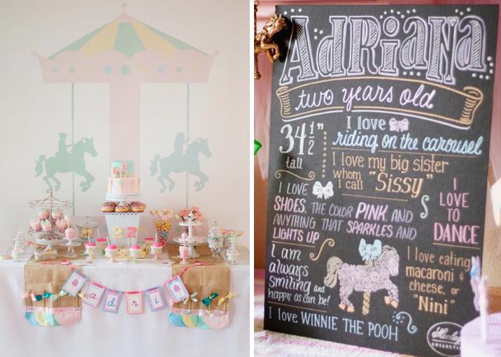 Kara S Party Ideas Carousel Horse Merry Go Round 2nd Birthday Girl