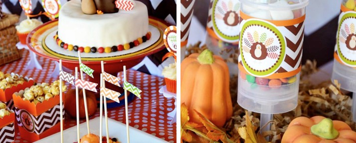 Chevron Print Thanksgiving Party via Kara's Party Ideas -www.KarasPartyIdeas.com
