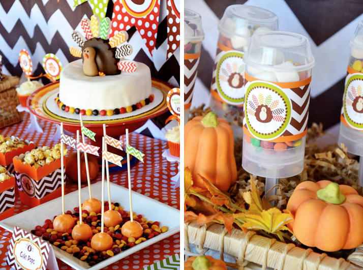 How Adorable Is This Chevron Print Thanksgiving