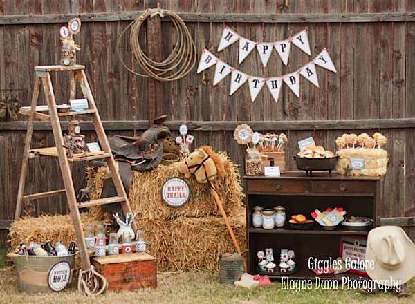 Kara's Party Ideas Classic Cowboy Boy Farm Horse Riding ...
