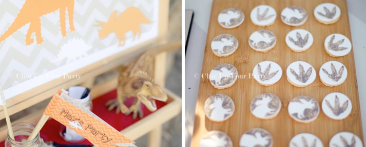 Dinosaur Themed 4th Fourth Birthday Party via Kara's Party Ideas - www.KarasPartyIdeas.com