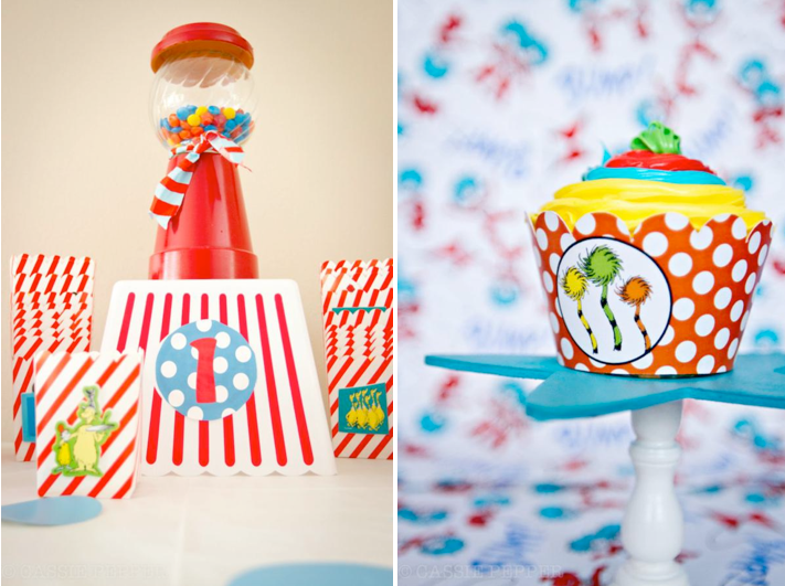 Dr Seuss 1st birthday party for boy and girl unisex via Kara's Party Ideas - www.KarasPartyIdeas.com