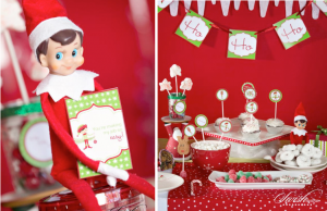 Elf on a shelf holiday Christmas Party via Kara's Party Ideas - www.KarasPartyIdeas.com