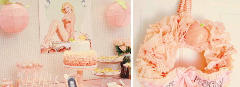 Just Peachy Peaches & Pin Up's 80th Birthday Party via Kara's Party Ideas - www.KarasPartyIdeas.com