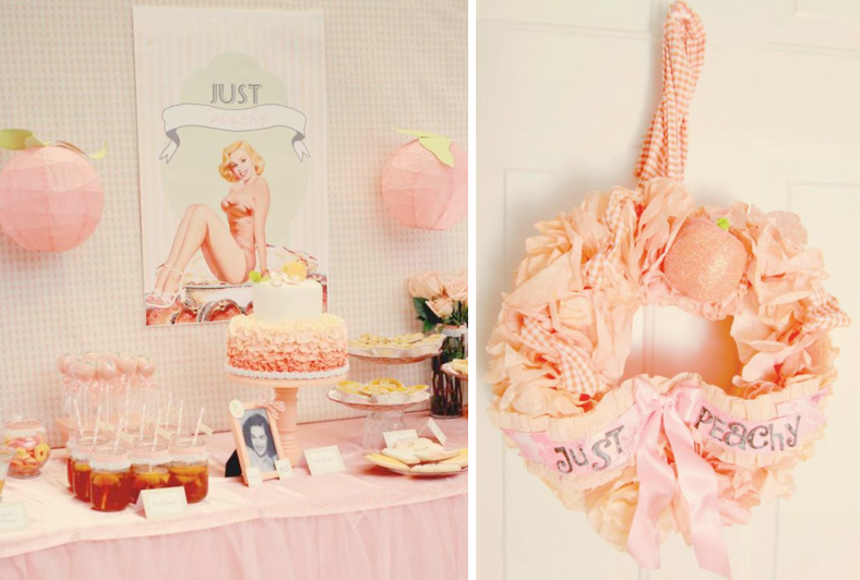 Karas Party Ideas Peaches And Pin Ups Pinups 80th Birthday Planning