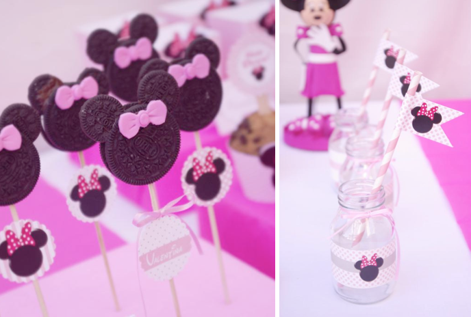 Karas Party Ideas Disney Minnie Mouse Girl Pink 2nd Birthday Planning