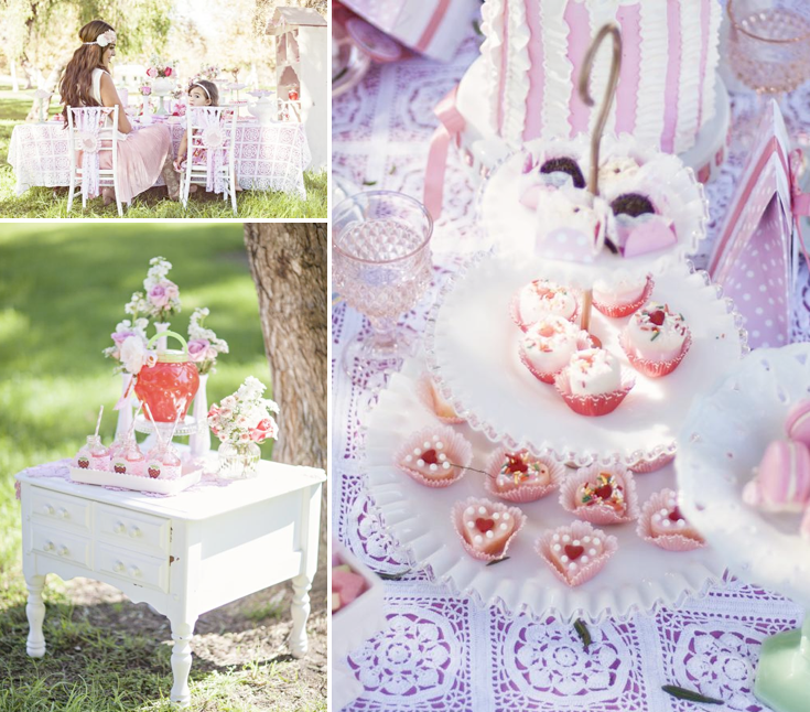 Karas Party Ideas Shabby Chic Mommy Me Girl Outdoor Birthday Tea