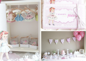 Paper Doll Themed Birthday Party Idea Planning via Kara's Party Ideas www.KarasPartyIdeas.com
