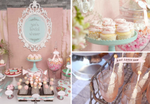 Shabby Chic Vintage Themed Bridal Shower Planning via Kara's Party Ideas www.KarasPartyIdeas.com