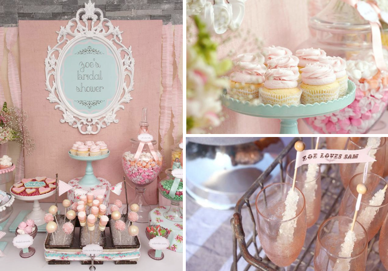karas party ideas shabby chic girl spring floral bridal shower party planning ideas