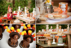 Thanksgiving Party Dessert Table Kids Activities via Kara's Party Ideas - www.KarasPartyIdeas.com