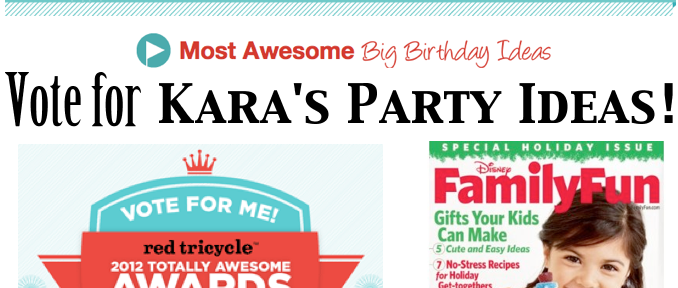 Vote for Kara's Party Ideas