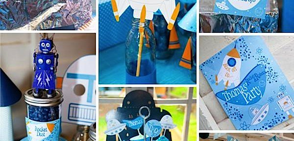 Rockets Robots + Space Themed Birthday Party Planning via Kara's Party Ideas - www.KarasPartyIdeas.com