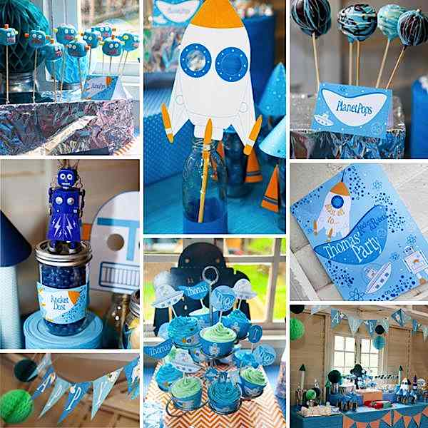 Kara S Party Ideas Rockets Robots Space Future Boy
