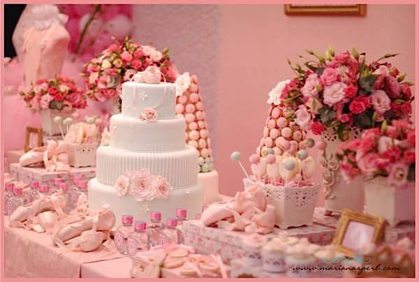 Kara S Party Ideas Pink Ballerina Dance Ballet Girl 1st