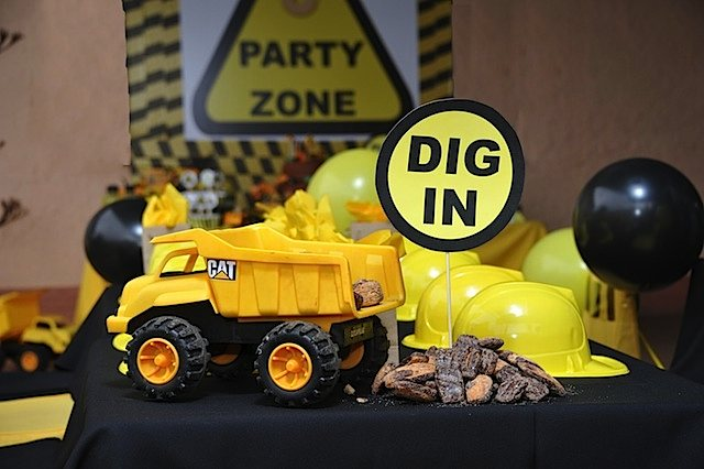 Kara S Party Ideas Mining Construction Truck Boy 3rd