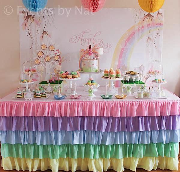 Karas Party Ideas Pastel Rainbow Fairy Girl Birthday