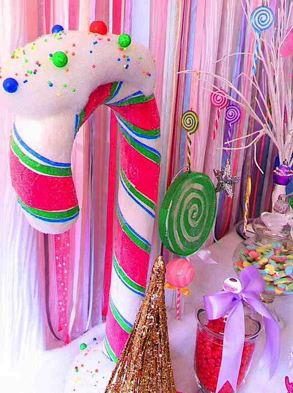 Kara's Party Ideas Glittery Christmas Candy Land Sweet Shop Girl ...