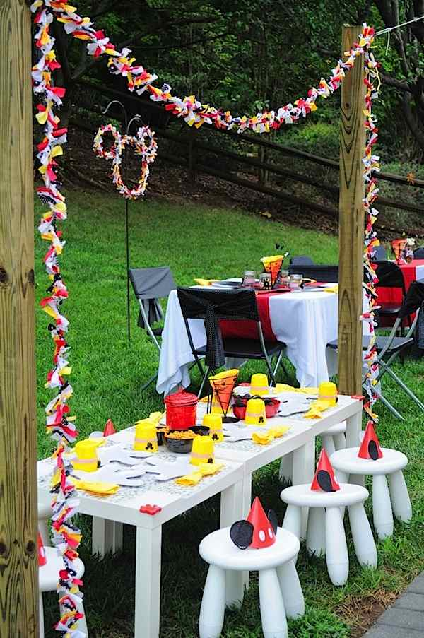 Mickey Mouse Kids Party Ideas and Inspiration  Table Decor