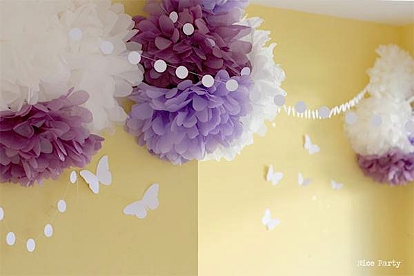 Karas Party Ideas Butterfly Yellow Purple Girl 1st Birthday Party ...