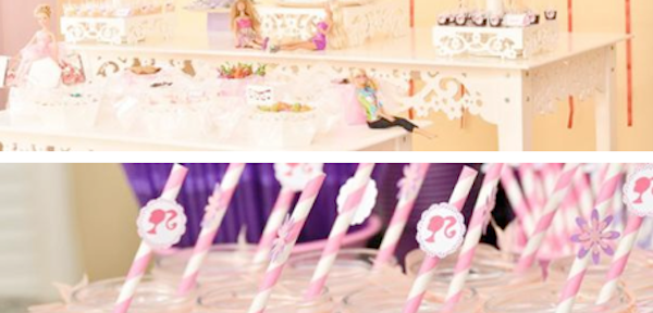 Barbie Themed Birthday Party Planning via Kara's Party Ideas www.KarasPartyIdeas.com
