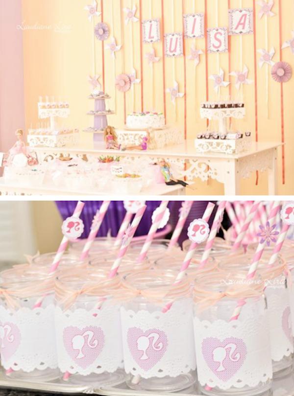 Karas Party Ideas Barbie Doll Girl Fashion 7th Birthday Party
