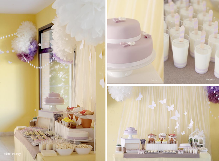 Karas Party Ideas Butterfly Yellow Purple Girl 1st Birthday Party