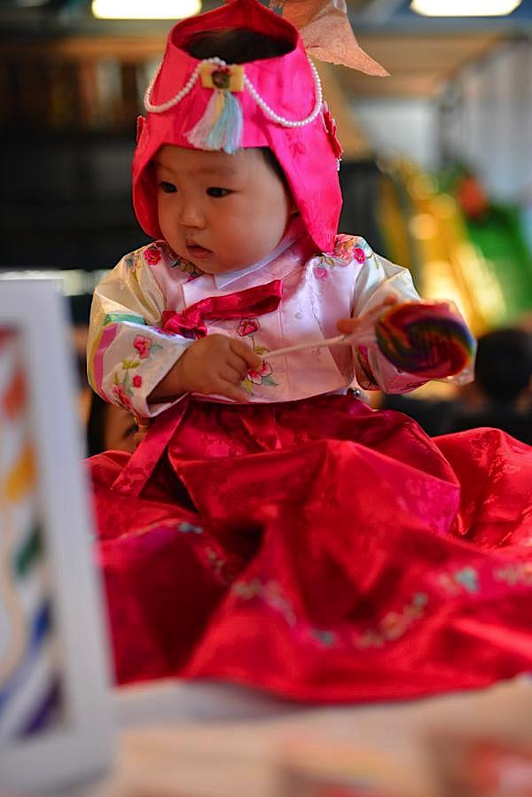 Karau0026#39;s Party Ideas Rainbow Colorful Korean Dohl 1st Birthday Party Planning Ideas