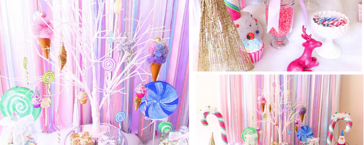Christmas Candyland Candy Land Glittery Party via Kara's Party Ideas www.KarasPartyIdeas.com