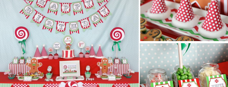 Christmas Sweet Shop 1st Birthday Party December 12