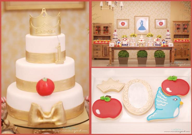 Kara\'s Party Ideas Snow White Princess Apple Girl 1st Birthday ...