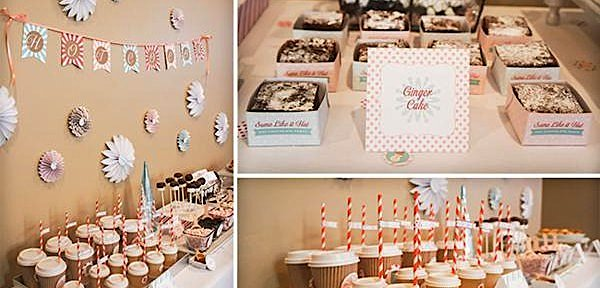 Hot Chocolate Themed Holiday Winter Party via Kara's Party Ideas www.KarasPartyIdeas.com
