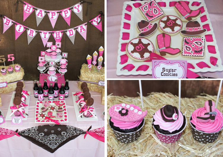 Kara 39 s party ideas cowgirl western girl 5th birthday party for 5th birthday decoration ideas