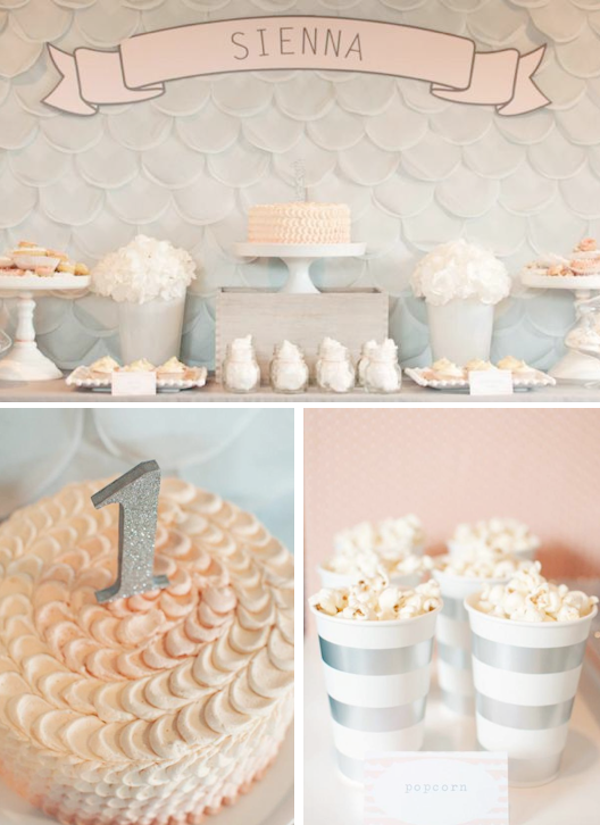 Karas Party Ideas Elegant Glamorous Girl 1st Birthday Party